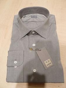 Gris Grey Camisa 35 Bc para 18 de Usa Ike 250 Nuevo vestir Slim hombre In Gold 34 Made Behar 4UAHCq