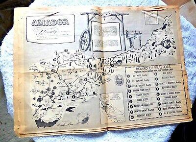 1883 CA Map ALAMEDA ALPINE AMADOR BUTTE CALAVERAS COUNTY CALIFORNIA History HUGE