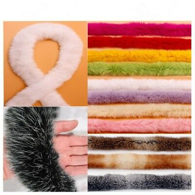 1 Yard Trim Trimming Artificial Rabbit Fur Tapes Fluffy Sewing Costume Crafts