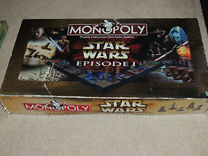 Vintage Star Wars Episode 1 Monopoly Board Game | eBay