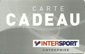 Carte Cadeau Intersport.Details Sur Rare Carte Cadeau Intersport Boutique Magasin Sport Entreprise Card