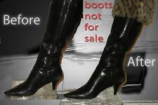 Footzy rolls/fold boot socks brown leopard faux fur boot toppers  leg warmers