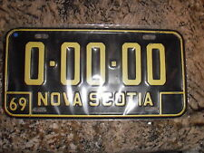 1969 NOVA SCOTIA SAMPLE LICENSE PLATE 00000