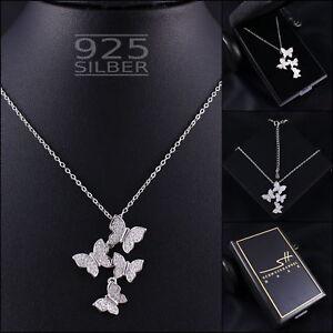 Schmetterling-Halskette-925-Sterling-Silber-Damen-SWAROVSKI-ELEMENTS-im-ETUI