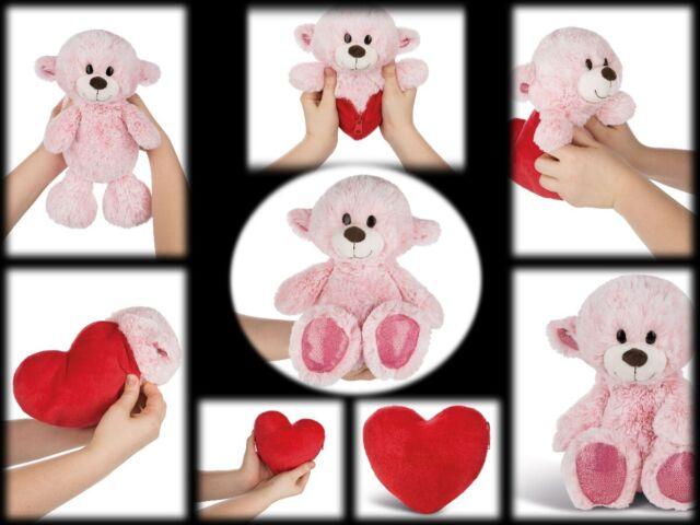NICI Kuscheltier Love Bär Schwester Wendeplüsch Herz Plüsch Polyester Pink 25 cm