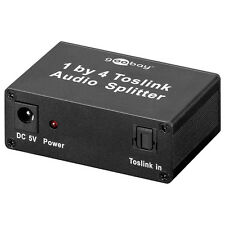 SPDIF digital Toslink Audio Splitter Verteiler 1 an 4 / 1x4