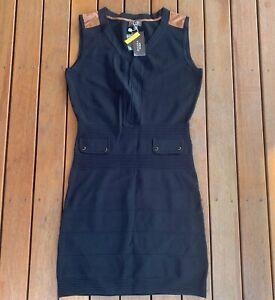 New-Zendra-El-Corte-Ingles-Size-M-EU42-Black-Dress-BodyCon-Sleeveless-Stretch