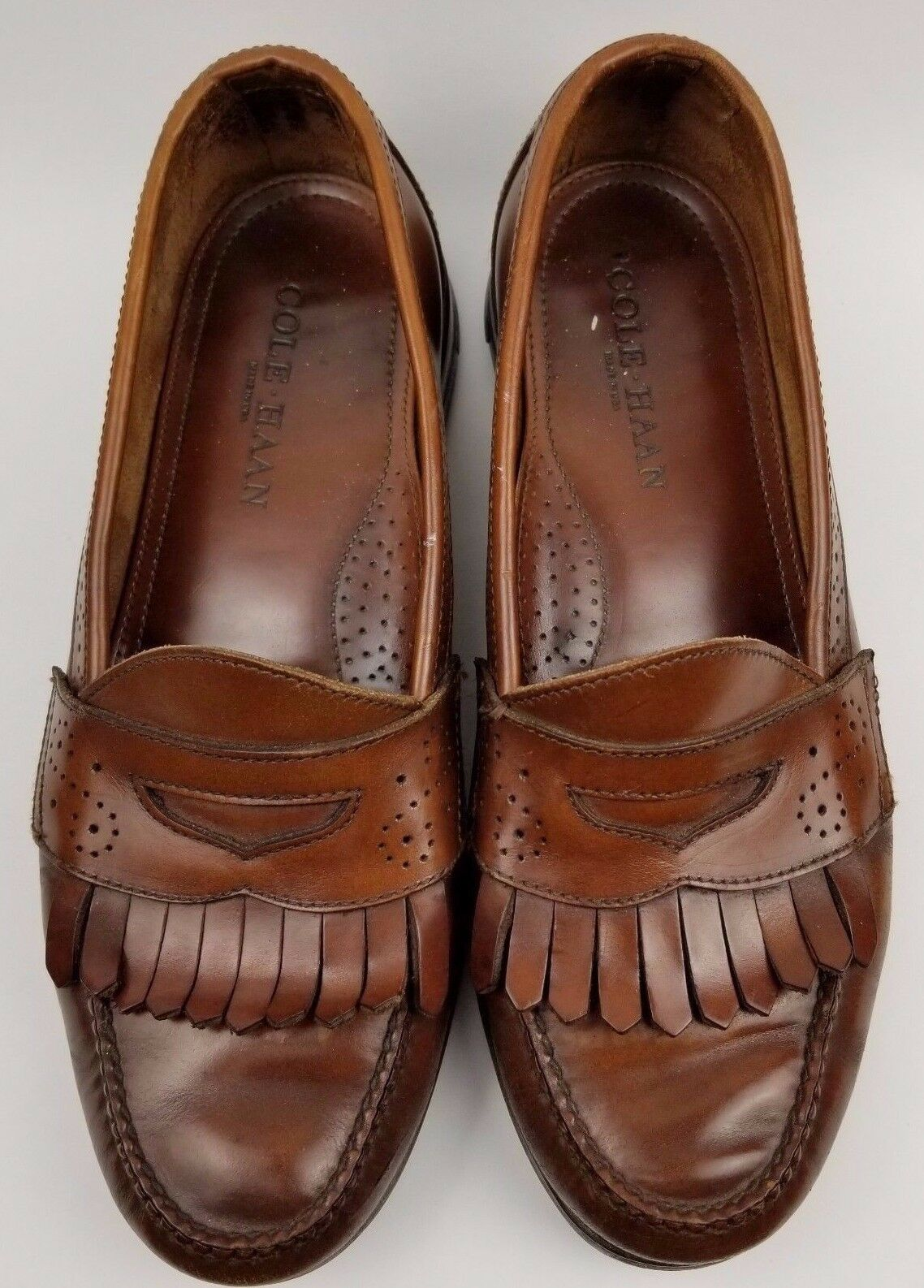 Cole Haan Brown Mens Leather Penny Loafers Drivers Dress shoes Brown Size 8 M