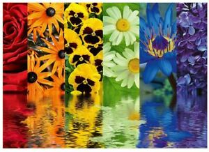 Ravensburger 500 piece jigsaw puzzle FLORAL REFLECTIONS flowers blooms