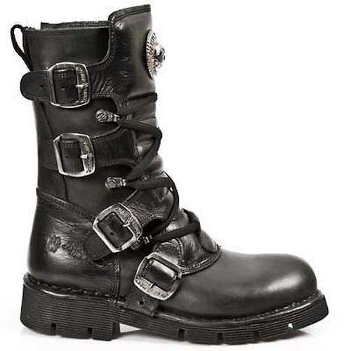 New Rock Navy/azul zapatos botas botas motorista botas color Gothic: Navy/azul Rock Nuevo b260f5