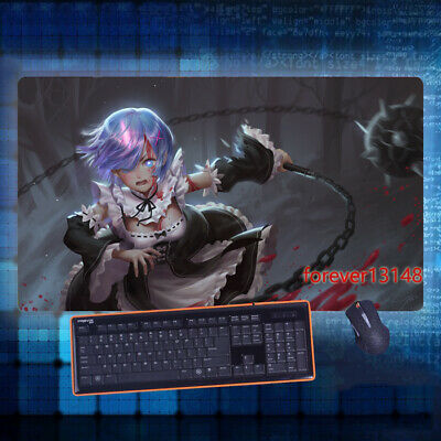 Oversized Keyboard GAME Mouse Pad Table Mat Gift 70*40CM Re:Zero Hot Anime Rem