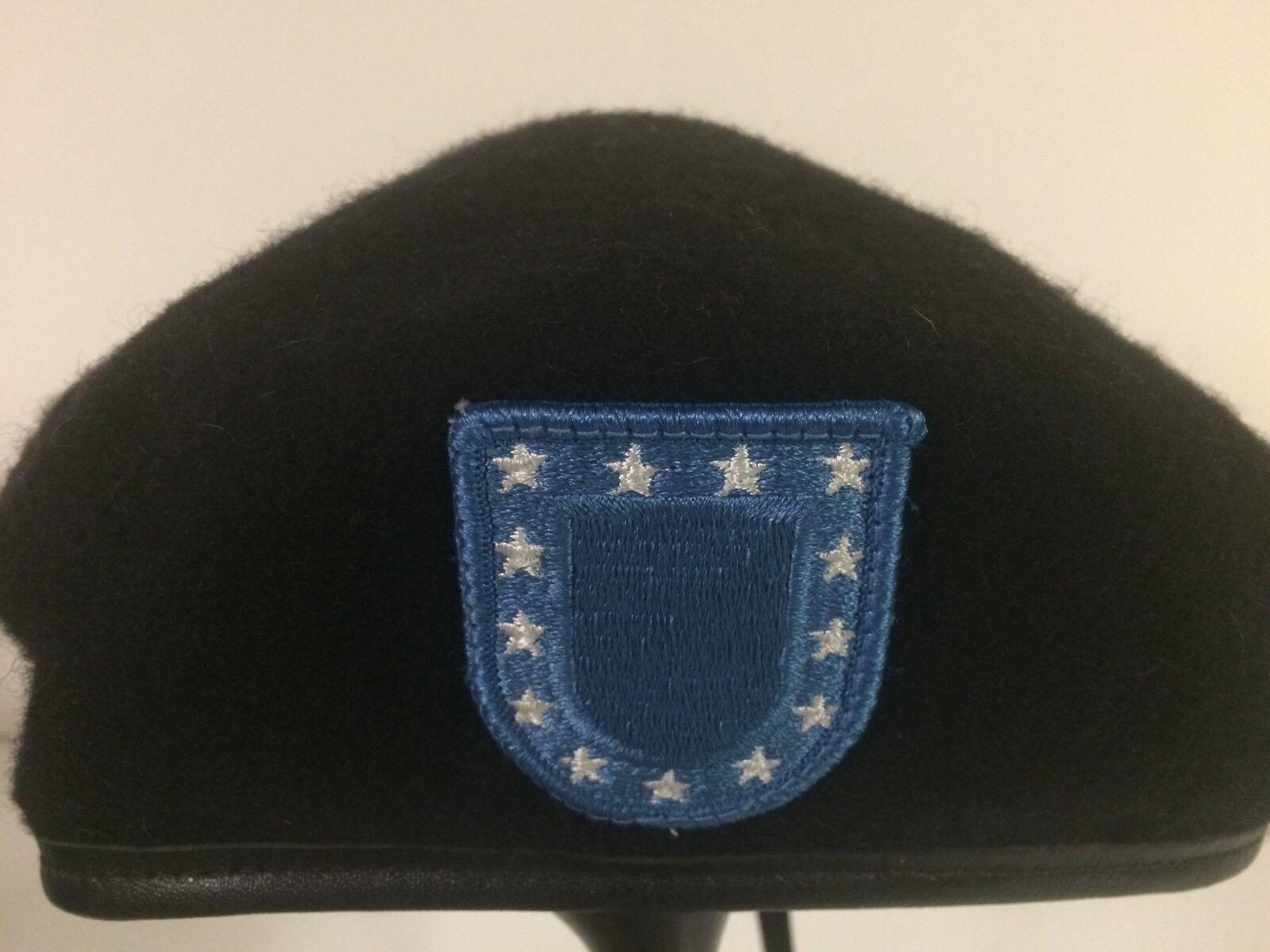 Garrison Collection Black Wool Beret Army DSCP Size 7-7//8 Brand NEW U.S