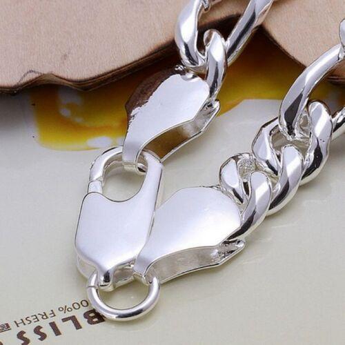 Wholesale Fashion 925 Sterling Argent Massif Hommes Bijoux 3+1 Chaine Bracelet H097