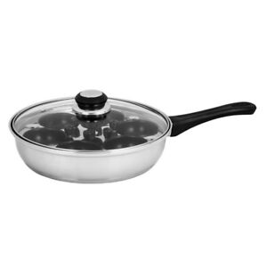 100-Genuine-AVANTI-Stainless-6-Cup-Egg-Poacher-Pan-24cm-with-Lid-RRP-93-95