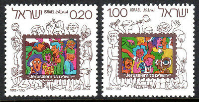 Mnh.jerusalem Philatelic Exhibition.spectators Bei Briefmarke KöStlich Israel 530-531 Mittlerer Osten