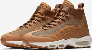 the latest d7a72 03b5a Details about Nike Air Max 95 Sneakerboot Flax Waterproof Tan White 806809  201 Various UK Size