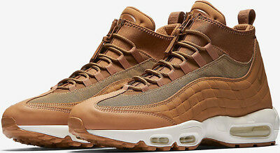 Nike Air Max 95 Sneakerboot lin Imperméable Tan Blanc 806809 201 Divers Taille UK   eBay