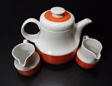 Retro Arzberg 711 Coffee Tea Pot and 2 Creamers H.Th. Baumann Germany RARE!