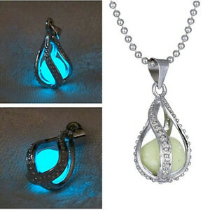 Charm-Mystery-The-Little-Mermaid-039-s-Teardrop-Glow-in-Dark-Pendant-Necklace-Women