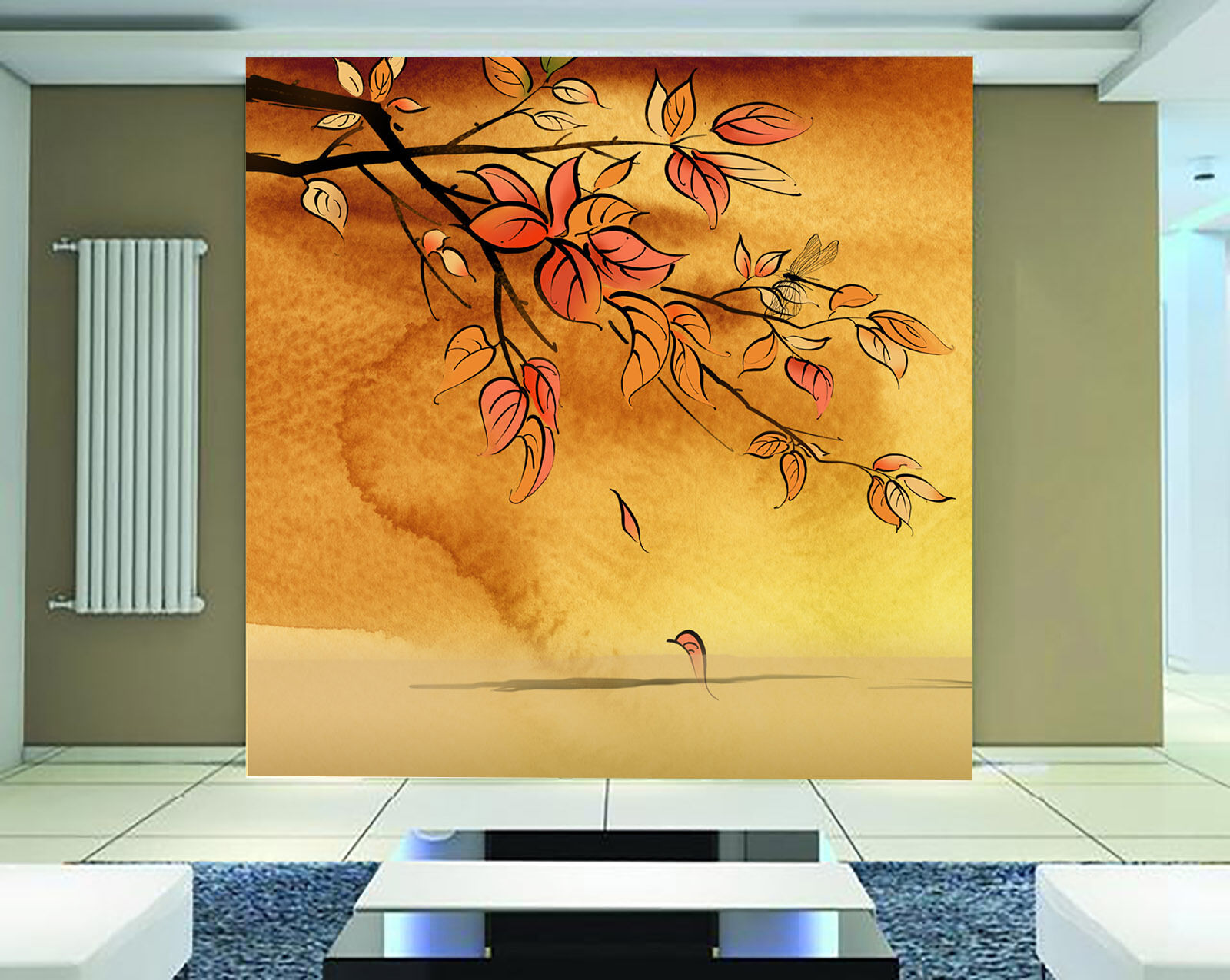 3D Gelbe Blätter 86278 Fototapeten Wandbild Fototapete BildTapete Familie DE