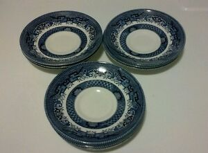 Image is loading Churchill-Staffordshire-Fine-English-Tableware -Saucer-Plate-Blue- & Churchill Staffordshire Fine English Tableware Saucer Plate Blue ...
