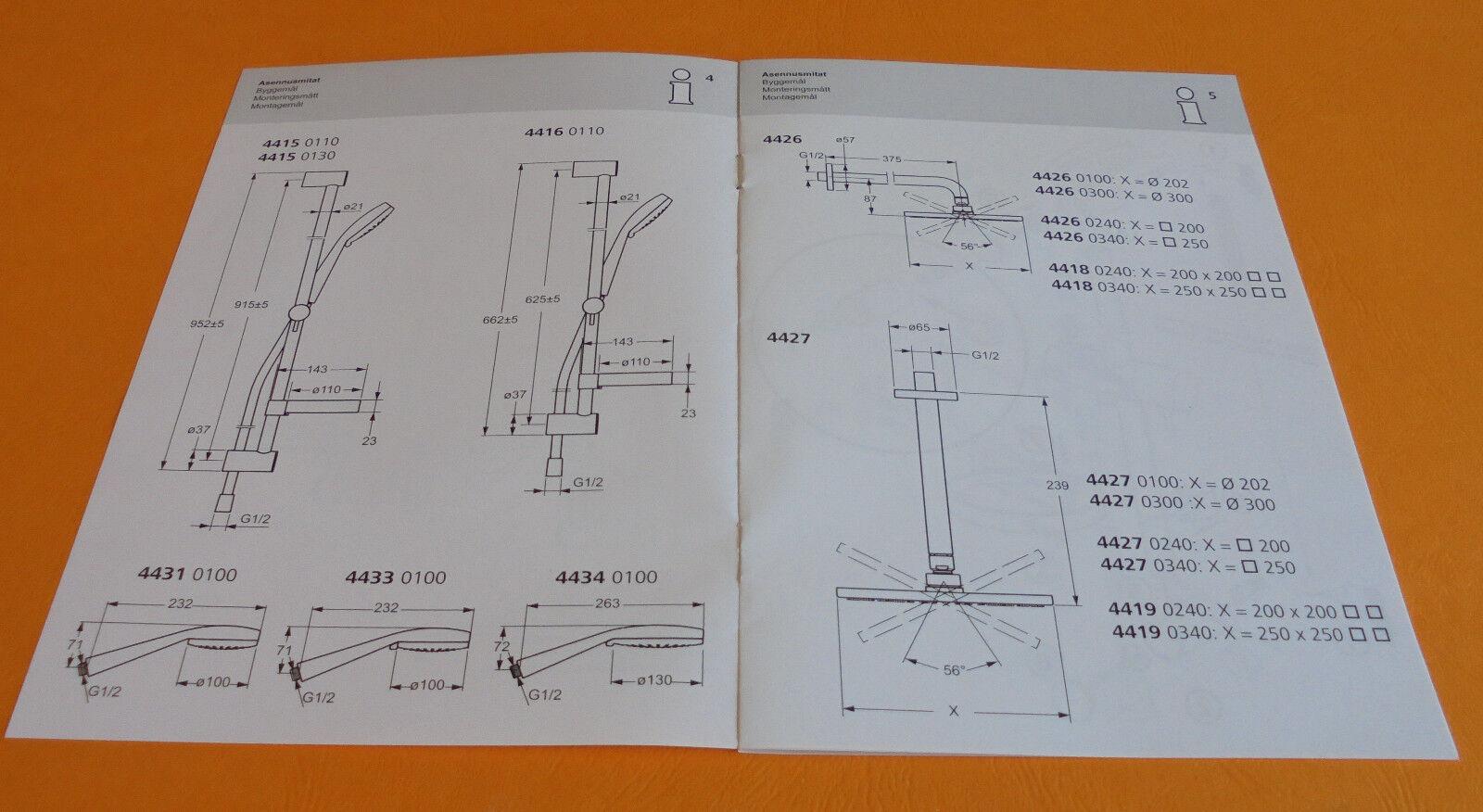 Hansa Viva Hansaviva Brausestange Stange Stange Stange Set    4415-0110 | Bestellung willkommen  52a161