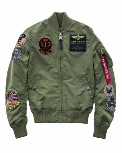Alpha Industries Giacca Uomo Ma-1 Tt Toppa Giacca Bomber Giacca S M L XL XXL 3XL