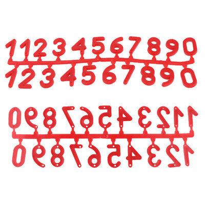 Beuten nummerieren Ziffern-Set 42mm,neon-rot,Imkerei,Imker,Plastik,Zahlen-Set