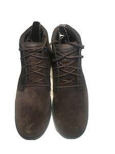 Teva-Men-s-Durbin-Suede-Chocolate-Brown-Size-11-Shoes