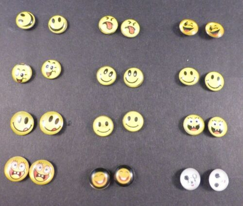Small Emoji / Emoticon Stud Earrings ... Let people know how you are feeling !!
