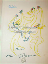 M. Maeterlinck, L'OISEAU BLEU Illustraz. PICASSO Tavole a Colori, Nobel Ritratto