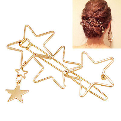 New Women's Hair Clip Hollow Stars Tassels Hairpin Party Hair Accessory Popular