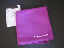 Tupperware Microfiber Sports Athletic Towel Large Purple w/ Logo Tab & Embroider