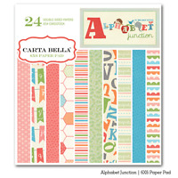 Carta Bella alphabet Junction 6x6 Paper Pad Children Scrapjack's Place