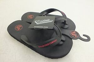 DVS-Shoe-Company-Step-Into-Summer-Kids-Black-Flip-Flop-Sandals-NEW-Fast-Shipping