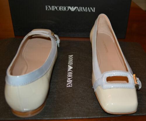 Nib 5 Leather Emporio Flats 495 Eu Sz 37 Shoes Armani Patent Us 6 qp1nxqfgw