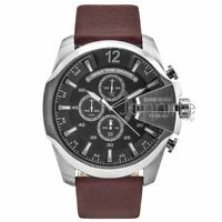 Diesel Authentic Watch DZ4290 Men's Gray Dial Mega Chief Chronograph NEW!