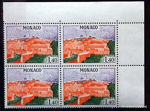 BLOC-DE-4-TIMBRES-MONACO-N-850-PALAIS-PRINCIER-1F40-NEUF-BD60