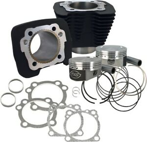 S-amp-S-Cycle-1250cc-Conversion-Kit-10-3-1-Compression-BLACK-1986-Up-XL-910-0691