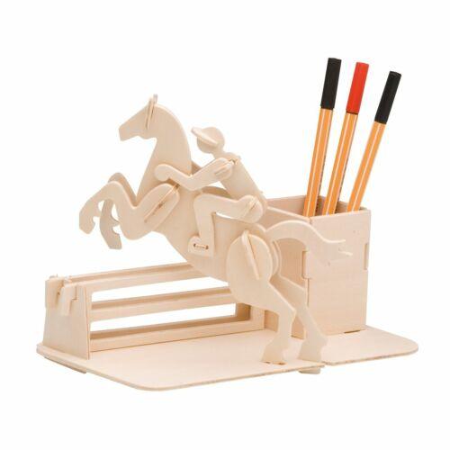 Tischständer PEBARO Holzbausatz Reiter Stifthalter