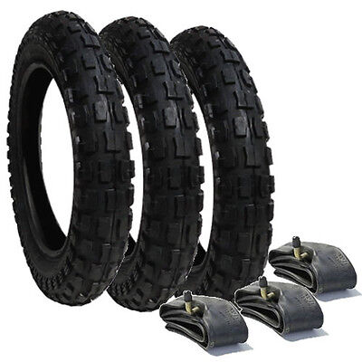 Set of 3 Phil and Teds Navigator Genuine Pushchair Tyres /& SLIME FILLED Tubes