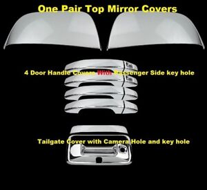 For-2015-18-Chevy-Colorado-GMC-Canyon-Chrome-Mirror-4-Door-Handle-Tailgate-Cover