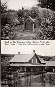 Postcard John Brown's Tomb and Old Homestead in Essex County, New York~4057