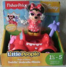 Fisher Price Little People SWIRLIN' UMBRELLA MINNIE Car Magic of Disney NEW