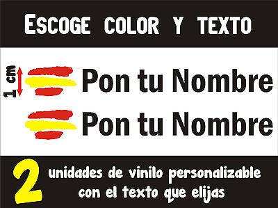 - VINILO 2 UNIDADES - BANDERA DE ESPAÑA 1 cm PEGATINAS PERSONALIZABLES