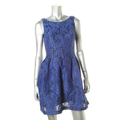 Bar III Bubble-Sleeve Wrap Dress Mystic Floral Cocktail Short Party Dress Large