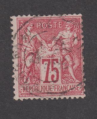France -Timbres oblitérés - N° 71 type I Sage - 75c carmin - 1876