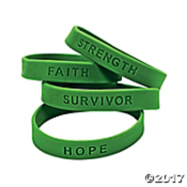 Green Awareness Sayings Bracelets Multiple Uses Mental Health Kidney