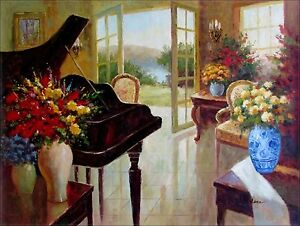 Image Is Loading Warm Living Room With A Grand Piano Hand
