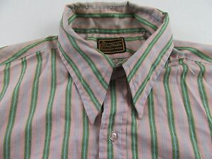 Vintage-039-70-039-s-Longsleeve-Striped-Hipster-Disco-Club-Buttonfront-Shirt-size-L